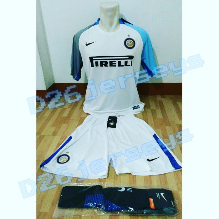uk availability 8de9f 1e3f8 Jual Jersey Inter Milan Away 2017 / 2018 Full KIT OFFICIAL - Jakarta Barat  - D26Jersey   Tokopedia