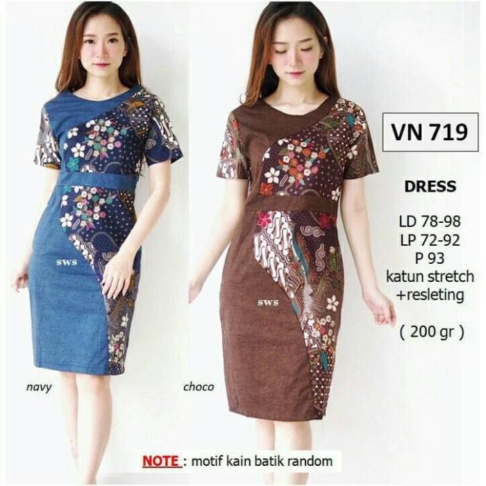 Jual Dress Batik Gaun Batik Pendek Dress Batik Pendek Gaun Pesta