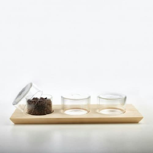 Foto Produk SUJI Display Set - 3-Penataan Memajang Kopi Coffee Teh Tea Glass Gelas dari Suji Premium