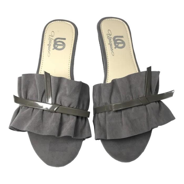 SP05 Ruffle kerut Sandal Selop teplek wanita / sendal cewek penny