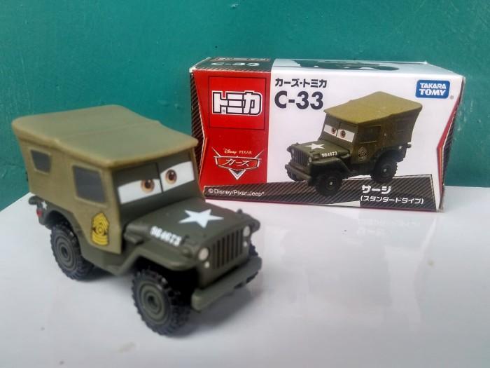 harga Tomica cars c-33 sarge willys mb jeep disney pixar diecast takara tomy Tokopedia.com