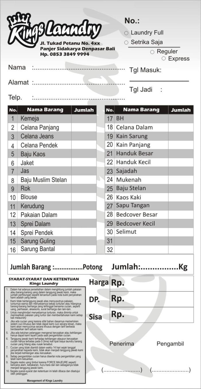 Jual Cetak Nota 2 Rangkap Kertas Ncr Tanpa Karbon Free Design Kota Yogyakarta Gurun Hijau Tokopedia