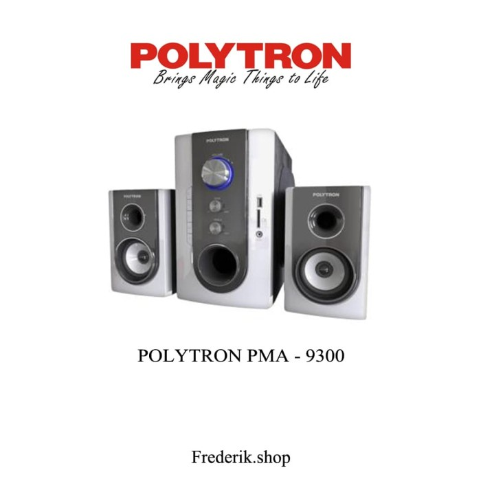 Multimedia Speaker Aktif POLYTRON PMA 9300 Putih USB MP3 Bluetooth