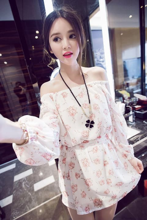 harga Bfs.110 baju fashion wanita chiffon bunga Tokopedia.com