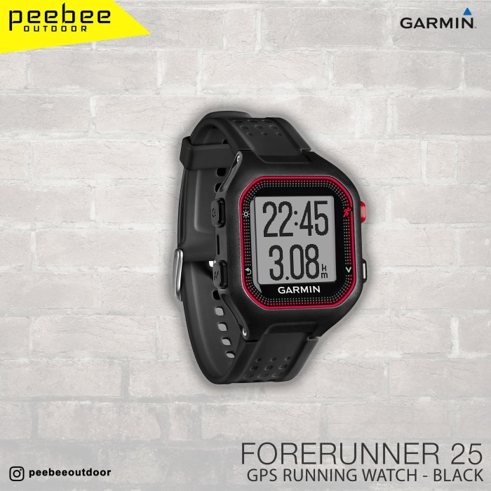 harga Garmin forerunner 25 black red - jam outdoor hitam merah Tokopedia.com