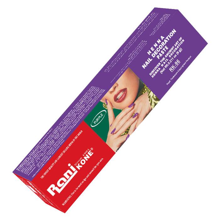 Rani Kone Nail Decoration Henna RK 96 Purple Pack (Pcs)