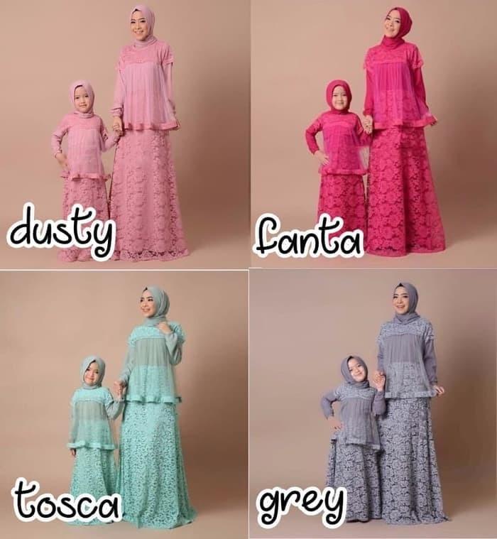 Jual Baju Gamis Couple Ibu Dan Anak Gamis Couple Muslim Kayma