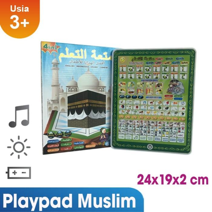 terlaris!! muslim play pad 4 bahasa mainan anak saleh