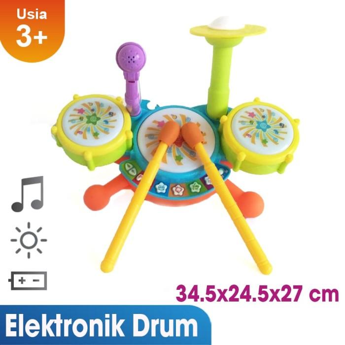 mainan musik jazz drum set lucu dan terbaru untuk tumbuh kembang anak