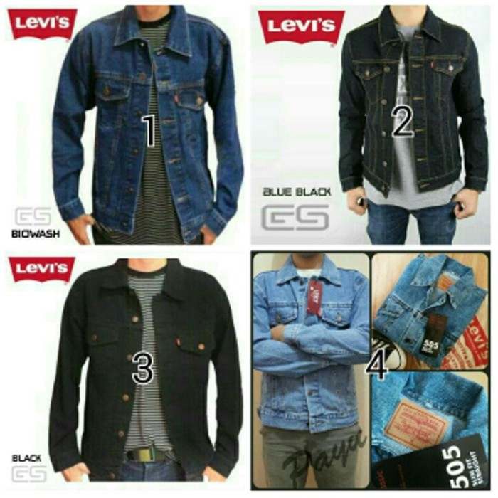 Jual PREMIUM jaket jeans levis pria murah jaket pria wanita kerja ... bfa00ed855