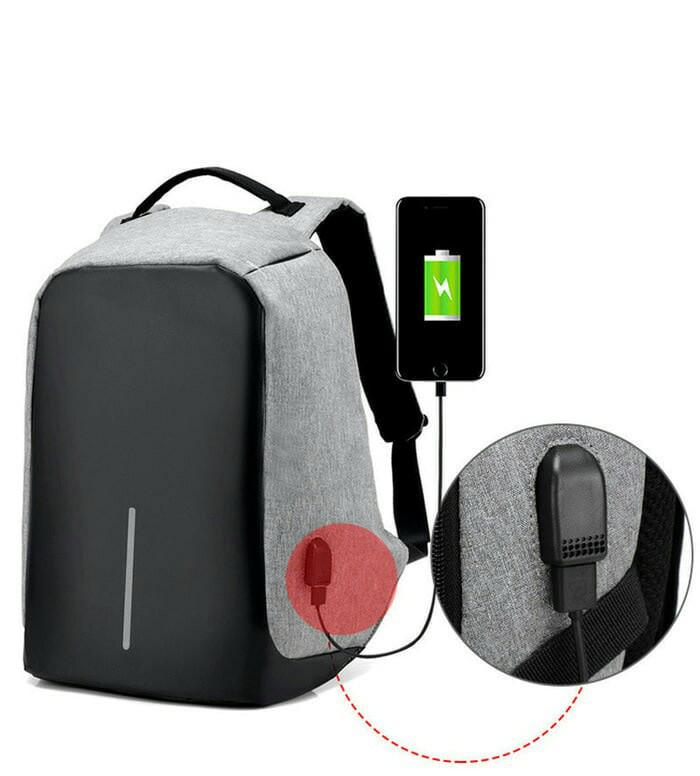 harga Tas ransel usb port charger powerbank anti air anti maling backpack Tokopedia.com