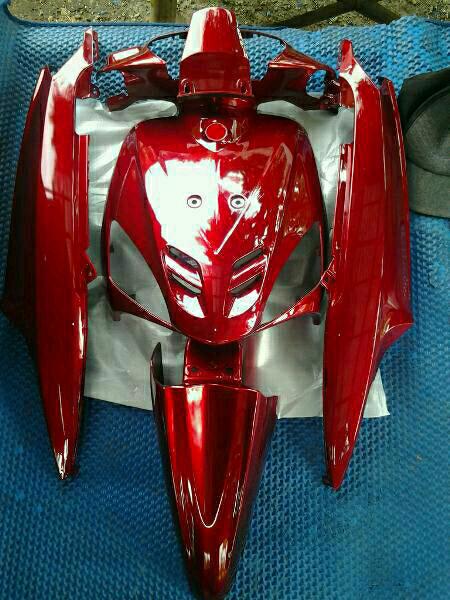 harga Cover body yamaha mio sporty full set warna merah marun Tokopedia.com
