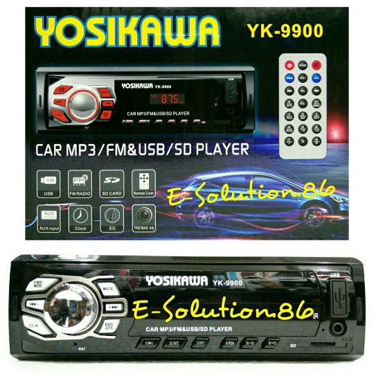 harga Head unit single din tape mobil yosikawa ampli mobil mp3 player usb fm Tokopedia.com