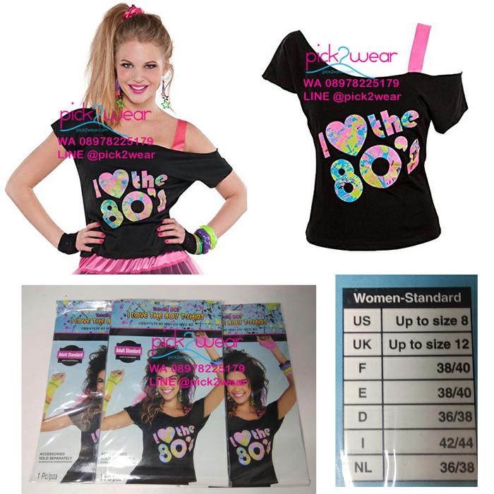 harga I love 80s tshirt kaos senam zumba black Tokopedia.com