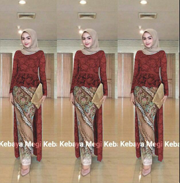 Jual Long Kebaya Wisuda Modern Azalea Muslim Rok Batik Jakarta Utara Fashion Terkini Tokopedia