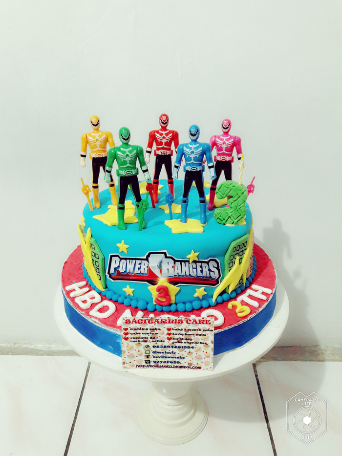 Jual Kue Ulang Tahun Power Rangers Fondant Cake Jakarta Timur Novlauwcake Tokopedia