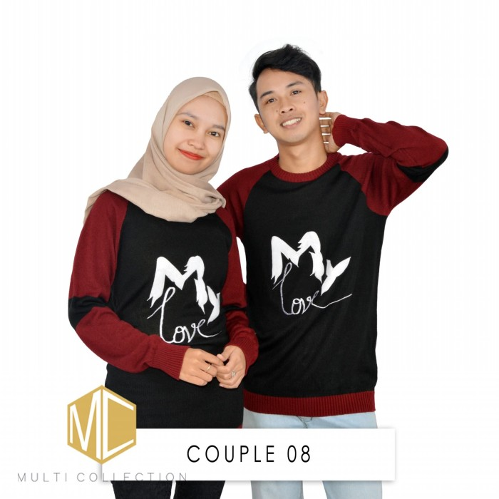 harga Couple 08 - baju rajut - baju couple -  sweater rajut Tokopedia.com