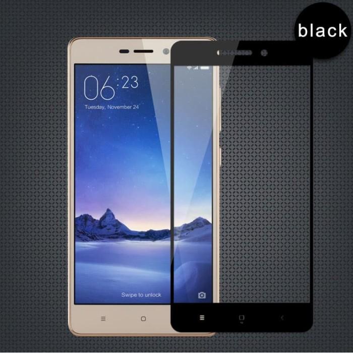 Full Cover Tempered Glass Warna Xiaomi Redmi 3 / 3s / 3 Pro