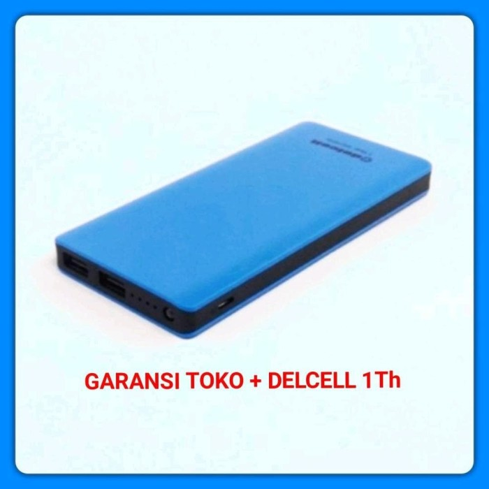 POWER BANK DELCELL ECO SLIM 10000 MAH REAL CAPACITY ORIGINAL