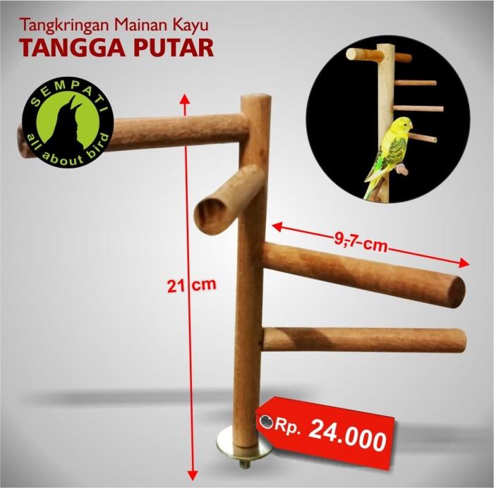 harga Tangkringan mainan kayu tangga putar sangkar kandang burung lovebird Tokopedia.com