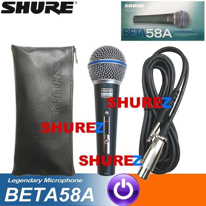 harga Shure beta 58a switch mik/mic/mikrofon/microphone kabel 58/58