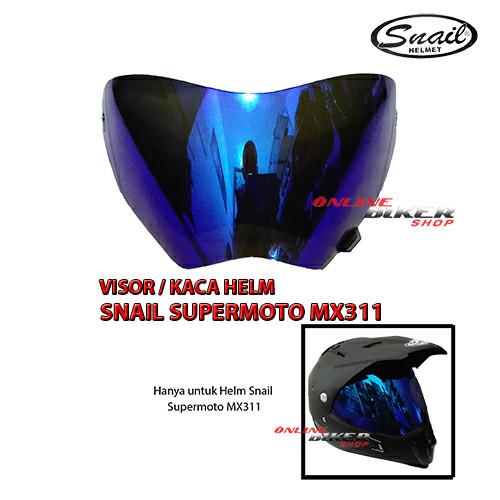 harga Visor / kaca helm snail supermoto mx311 Tokopedia.com