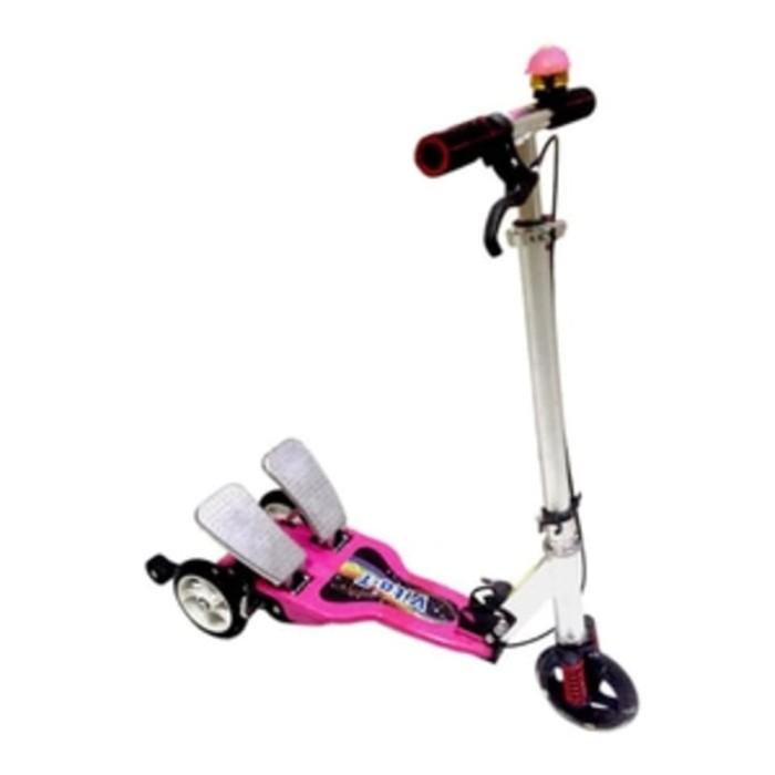 Scooter Otoped Skuter Anak Roda Tiga Pedal Injak Besi