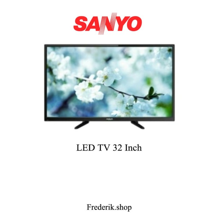 Jual Aqua Sanyo 32 LED TV 32AQT6000 DVBT2 Digital TV HDMI