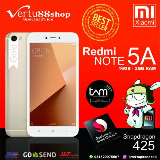 harga Xiaomi redmi note 5a gold 16gb/2gb ram rom global tam 1tahun Tokopedia.com