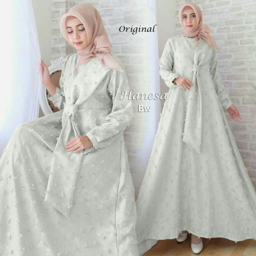 Flavia Store Maxi Dress Lengan Panjang Set 2 in 1 FS0674 - PEACH. Source ·