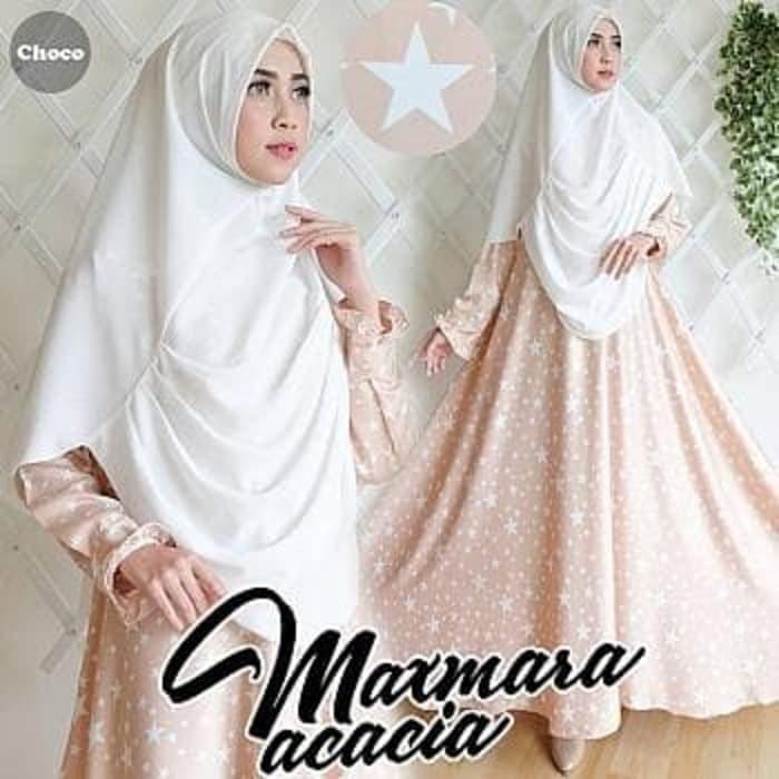 Baju Gamis Muslim [Syari Maxmara Acacia Choco TL] gamis wanita maxmara
