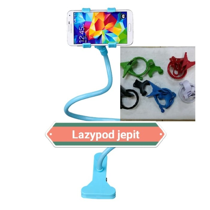 Lazy Pod / Holder Handphone - Putih