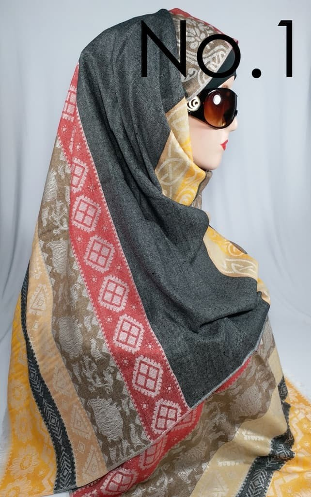 Jual Pashmina Rawis Motif Tribal Bahan Viscose Sutra Limited Series Kab Sidoarjo Dealuv Tokopedia