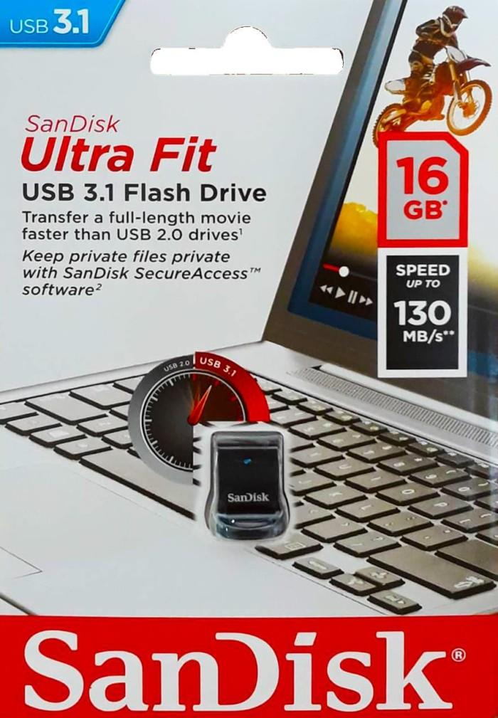 Foto Produk Sandisk Cruzer Ultra Fit CZ430 16GB USB 3.1 dari Enter Komputer Official