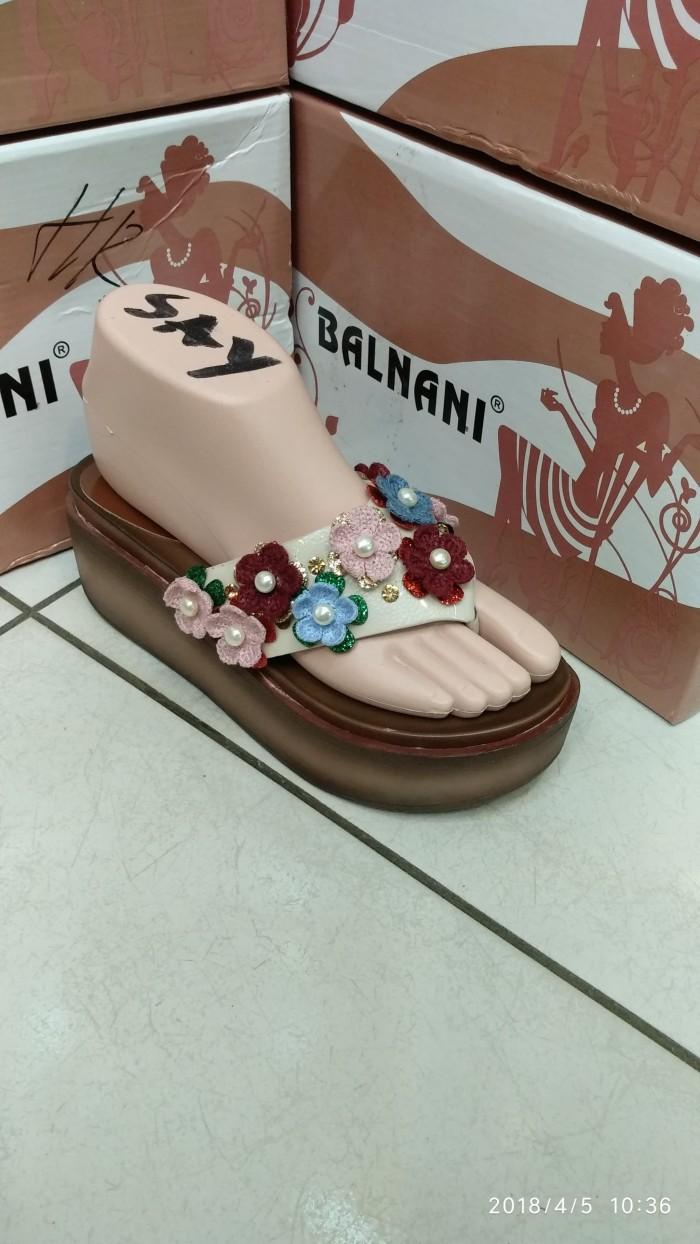 harga Balnani sandal import wanita cewek sepatu wedges flat heels 1895 Tokopedia.com