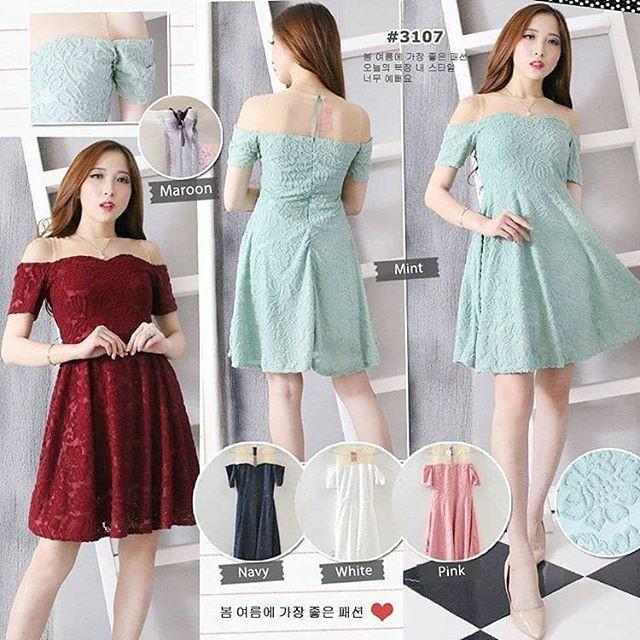 Jual 3107 Fashion Baju Outfit Pakaian Dress Gaun Pesta Casual Wanita