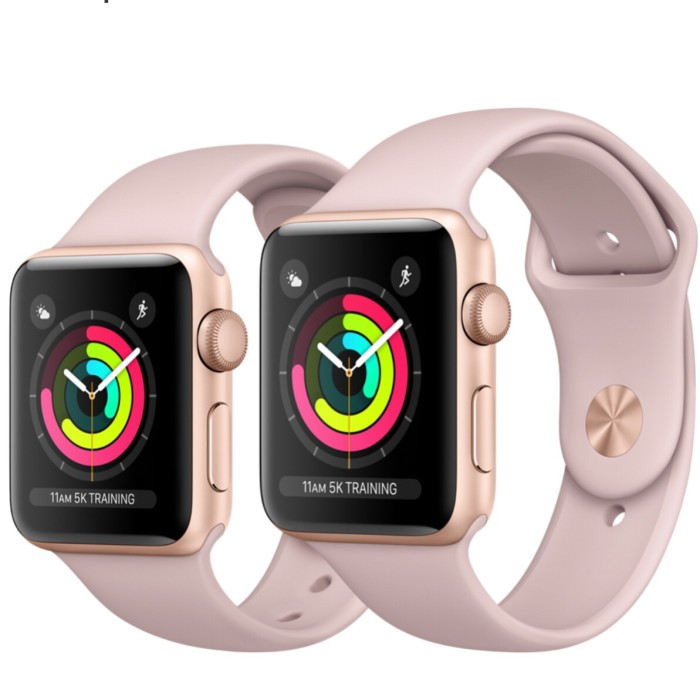 harga Apple watch series 3 gps 38mm gold aluminium case pink sand sportband Tokopedia.com