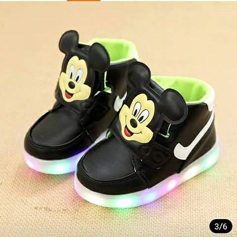 harga Shoes mickey led 21-25| sepatu lampu | sepatu anak import Tokopedia.com