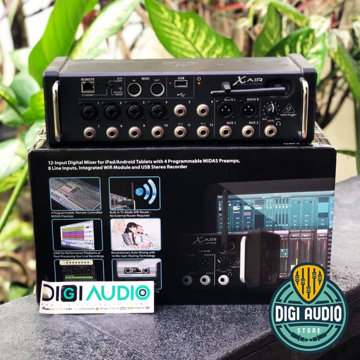 harga Behringer x air xr12 [ xr 12 ] 12 input digital mixer audio with wifi Tokopedia.com
