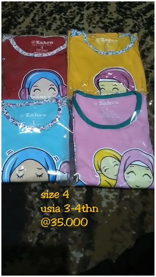 Foto Produk Kaos Anak Muslimah Zahra ukuran 3 - 8 thn dari Kedai Syifa