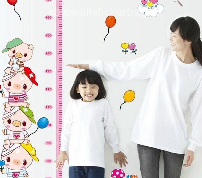 ... wall sticker 50x70 wallstiker AY7262 GROW UP PINK PIGGY