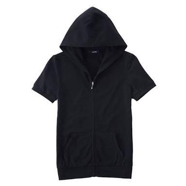 ... harga Zipper lengan pendek jaket hoodie short sleeve Tokopedia.com