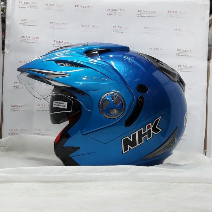 Foto Produk NHK Aviator Solid 2Visor Royal Blue dari faizal.helm