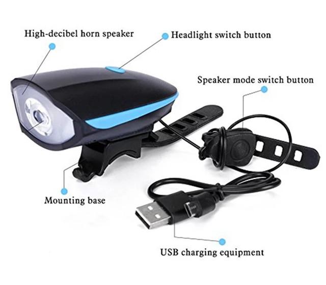 harga Klakson sepeda nyaring banget lampu terang di cas via usb ada batre Tokopedia.com