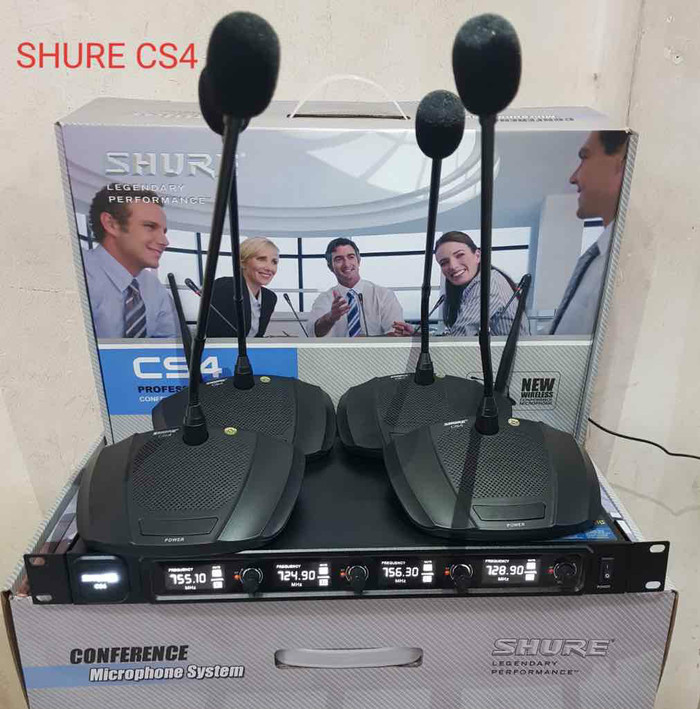 harga Mic shure cs4 conference wireless microphone ( 4bh mic meja ) Tokopedia.com