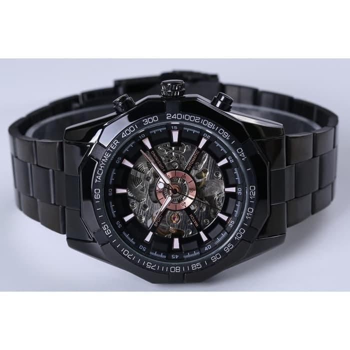 Jam Tangan Forsining Watch Men Skeleton Automatic Mechanical