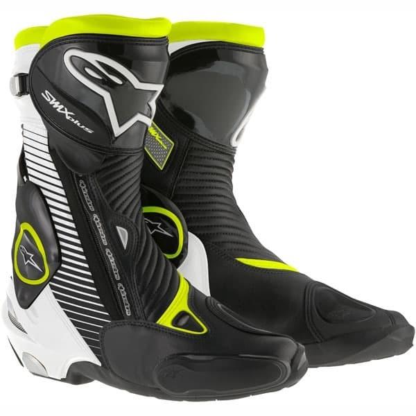 Alpinestars smx plus boots sepatu motor original - black white yellow