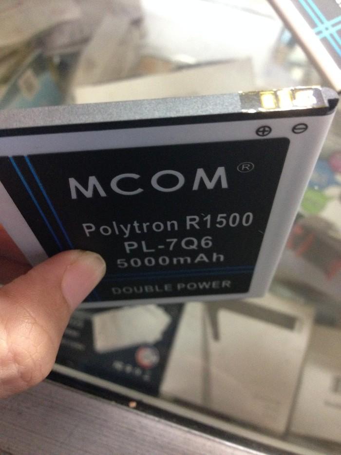 Baterai Mcom Double Power Polytron R1500 Rocket Q-Five Type PL-7Q6 500