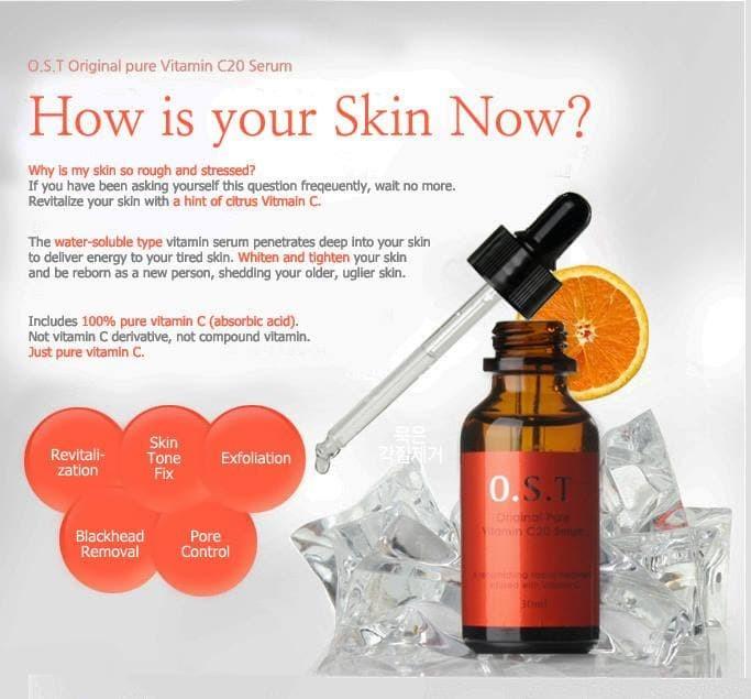 harga [share in bottle 5ml]-ost original pure vitamin c20 serum Tokopedia.com
