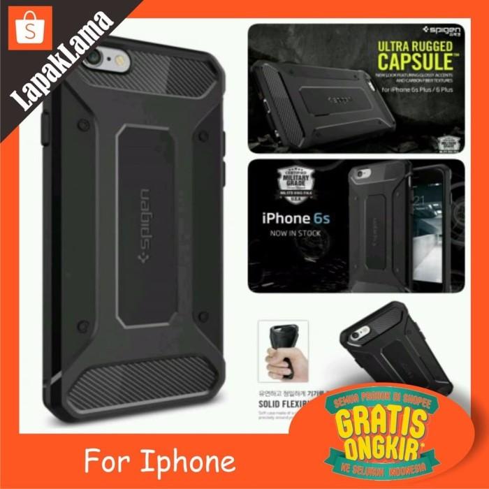 Jual Turun Harga SA Case Spigen Rugged Capsule iPhone 6S 6G 6 6 Plus ... 2a25ec586c